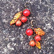 """Украшения ручной работы. Ярмарка Мастеров - ручная работа Серьги из полимерной глины """"Рябина"""", ягоды, ягодное украшение, ягодки. Handmade."""