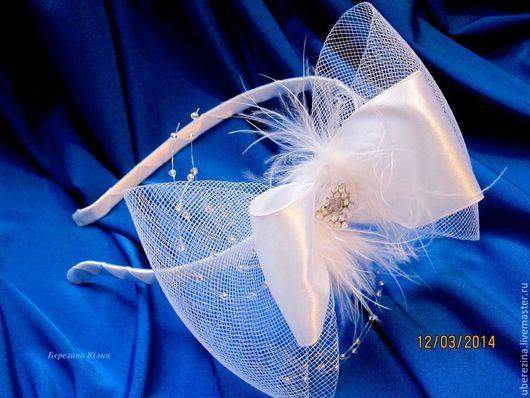 Одежда и аксессуары ручной работы. Ярмарка Мастеров - ручная работа. Купить ободок для невесты. Handmade. Белый, ободок для невесты, свадьба