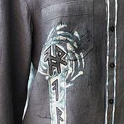 """Одежда ручной работы. Ярмарка Мастеров - ручная работа Рубашка  мужская  """"Руны"""" из льна. Handmade."""
