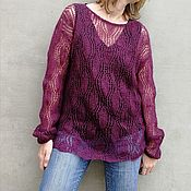 Одежда handmade. Livemaster - original item Gossamer sweater Thin mohair sweater. Handmade.