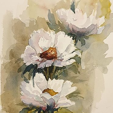 Картины и панно ручной работы. Ярмарка Мастеров - ручная работа Картины: Белый шиповник. Handmade.