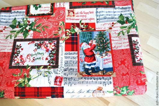Шитье ручной работы. Ярмарка Мастеров - ручная работа. Купить Ткань новогодняя для пэчворка Дед Мороз. Handmade. Ткань новогодняя