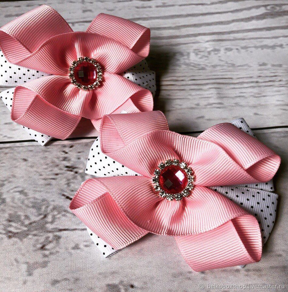 The bow of REP ribbons 'cotton candy', Hairpins, Moscow,  Фото №1