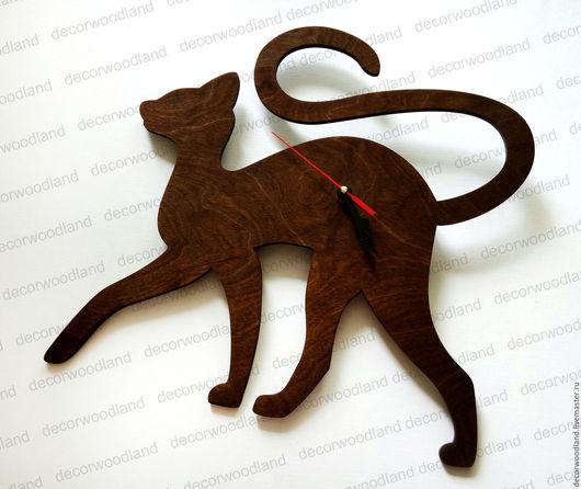 """Часы для дома ручной работы. Ярмарка Мастеров - ручная работа. Купить Часы """"Кошка"""". Handmade. Часы настенные, часы декупаж"""