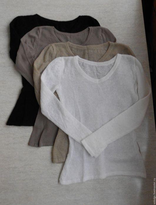 Кофты и свитера ручной работы. Ярмарка Мастеров - ручная работа. Купить Джемпер из кид-мохера. Handmade. Белый, полушерсть