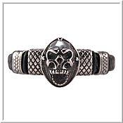 Украшения handmade. Livemaster - original item Skull bracelet men`s leather no 2 accessories steel 316L. Handmade.