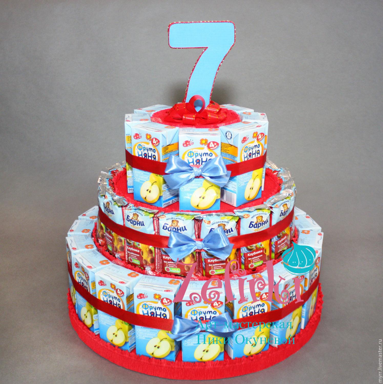 Торт из шоколадок и сока своими руками в детский сад 85