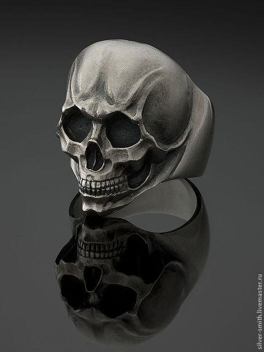 Украшения для мужчин, ручной работы. Ярмарка Мастеров - ручная работа. Купить кольцо череп. Handmade. Серебро 925 пробы