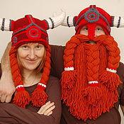 Аксессуары ручной работы. Ярмарка Мастеров - ручная работа шапки семейные скандинавские. Handmade.