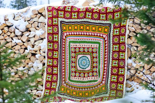Текстиль, ковры ручной работы. Ярмарка Мастеров - ручная работа. Купить плед Индейские Напевы. Handmade. Комбинированный, подарок на свадьбу