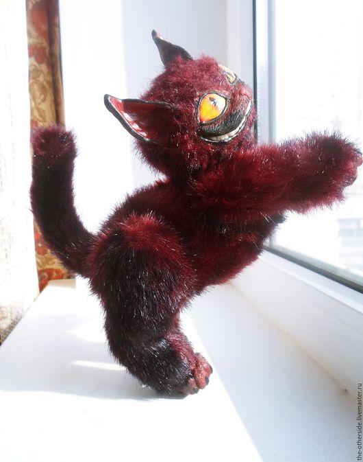 Игрушки животные, ручной работы. Ярмарка Мастеров - ручная работа. Купить Чеширский кот. Handmade. Комбинированный, чешир, улыбка