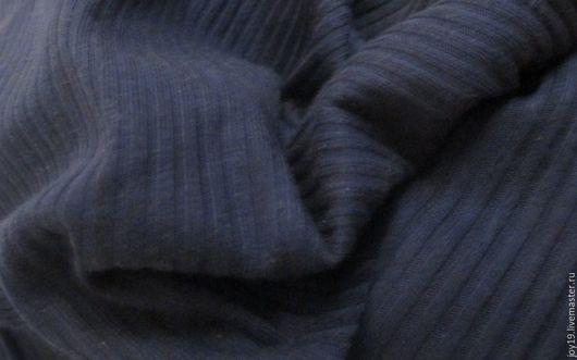 """Шитье ручной работы. Ярмарка Мастеров - ручная работа. Купить Трикотаж """"Индиго"""". Италия.. Handmade. Тёмно-синий, трикотаж, хлопок"""