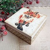 Для дома и интерьера ручной работы. Ярмарка Мастеров - ручная работа Лисичкина зима - шкатулочка для украшений. Handmade.