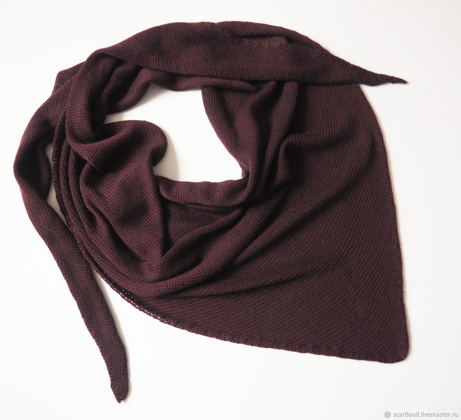scarves: Knitted scarf made of cashmere cashmere scarf, Kerchiefs, Cheboksary,  Фото №1