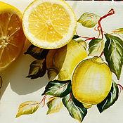 """Декоративное панно """"Лимоны""""."""