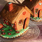 Подарки к праздникам ручной работы. Ярмарка Мастеров - ручная работа весенний пряничный домик с подсветкой. Handmade.
