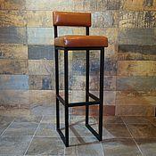 Стулья ручной работы. Ярмарка Мастеров - ручная работа Барный стул, эко-кожа, в стиле Лофт. Handmade.