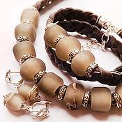 Украшения handmade. Livemaster - original item Haze - earrings, bracelet and necklace lampwork. Handmade.