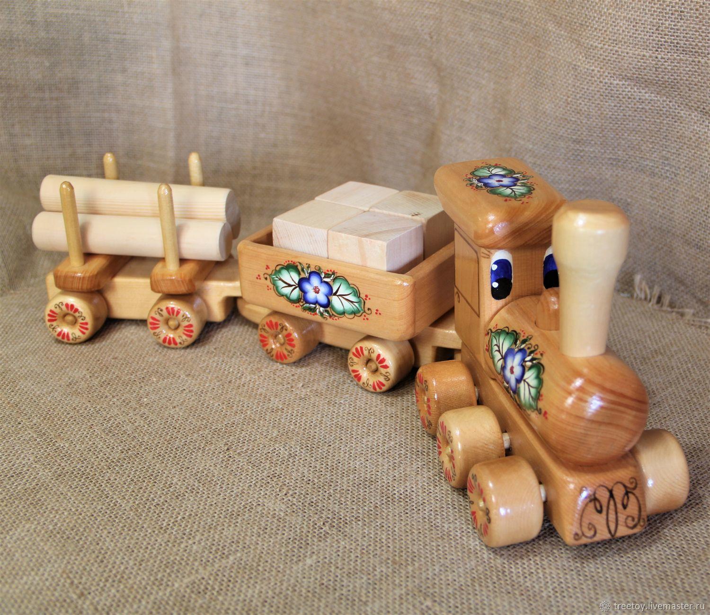 Деревянный Паровозик 19 Деревянная игрушка, Игрушки, Черемшанка, Фото №1