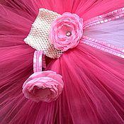 Работы для детей, ручной работы. Ярмарка Мастеров - ручная работа Комплект с шифоновым цветком.. Handmade.