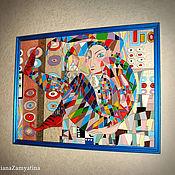 """Картины и панно ручной работы. Ярмарка Мастеров - ручная работа Картина """"Арлекин"""" по мотивам работы Акжан Абдалиевой. Handmade."""