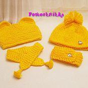 Комплект для куклы (шапка+шарф)