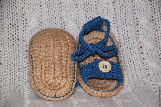 Детская обувь ручной работы. Ярмарка Мастеров - ручная работа. Купить Пинетки для новорожденных. Летние пинетки для девочек. Ручная работа.. Handmade.