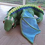 Мягкие игрушки ручной работы. Ярмарка Мастеров - ручная работа Дракон Кифер, вязаная игрушка. Handmade.