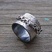 Украшения ручной работы. Ярмарка Мастеров - ручная работа Серебряное кольцо с цепочкой, кольцо унисекс,кольцо серебро мужское. Handmade.