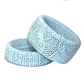 Украшения handmade. Livemaster - original item Knitted bracelets (set of 2 PCs). Handmade.