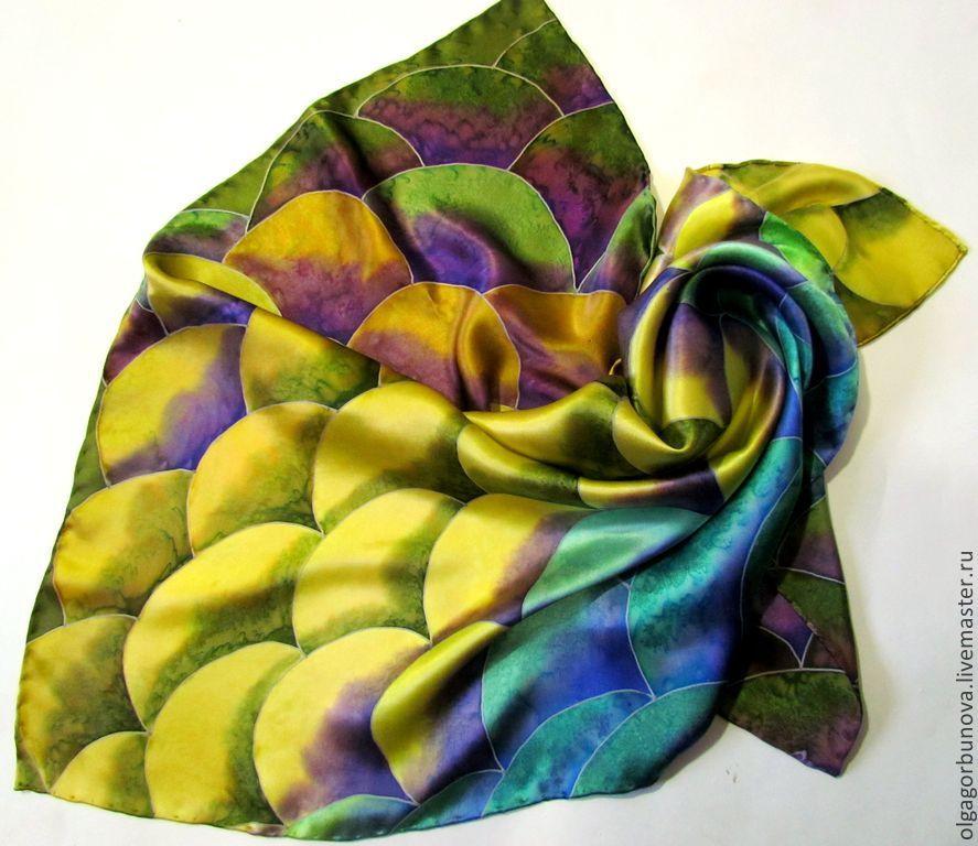 Batik scarf 'Snake', Shawls1, Yaroslavl,  Фото №1
