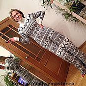"""Одежда ручной работы. Ярмарка Мастеров - ручная работа Шерстяной вязаный комбинезон """"Веселые олени"""". Handmade."""