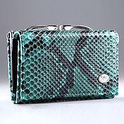 Сумки и аксессуары handmade. Livemaster - original item Women`s python leather wallet with ferumar IMP0059S. Handmade.