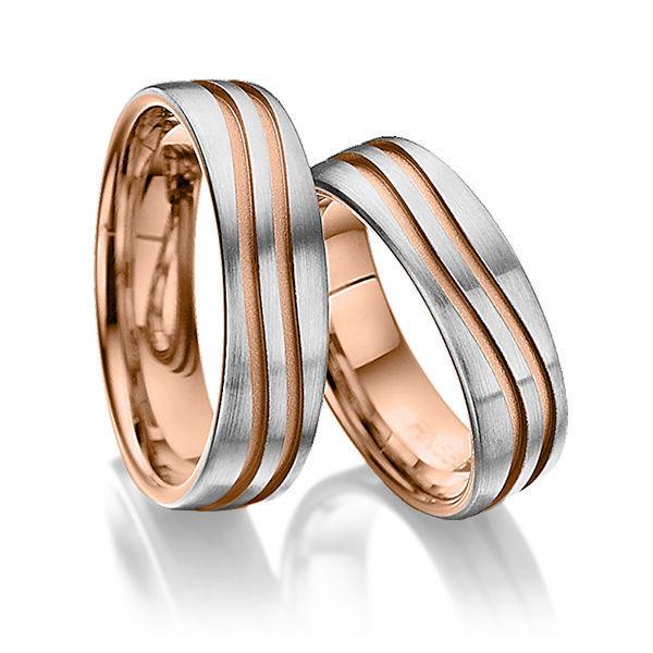 Обручальные кольца Modern 17-076 NEW, Свадебные украшения, Москва, Фото №1