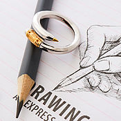 Украшения handmade. Livemaster - original item Need a gift for the artist-a Pencil ring. Handmade.