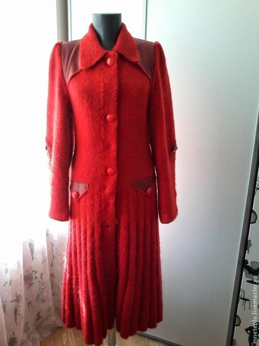 Верхняя одежда ручной работы. Ярмарка Мастеров - ручная работа. Купить пальто вязаное. Handmade. Вязаное пальто, пальто из мохера