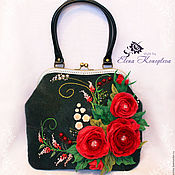 Сумки и аксессуары handmade. Livemaster - original item Bag Scarlet felted wool. Handmade.