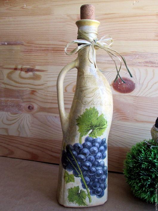 """Графины, кувшины ручной работы. Ярмарка Мастеров - ручная работа. Купить Бутылочка  для вина """"Виноградная кисть"""". Handmade. Графин"""