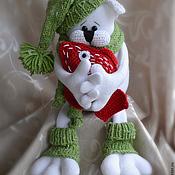 Куклы и игрушки ручной работы. Ярмарка Мастеров - ручная работа Котик с красной рыбкой. Handmade.