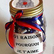 Подарки к праздникам ручной работы. Ярмарка Мастеров - ручная работа 101 причина почему я люблю тебя.... Handmade.