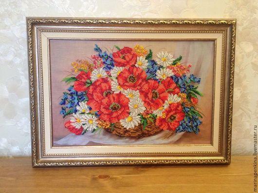 Картины цветов ручной работы. Ярмарка Мастеров - ручная работа. Купить Корзина переполненная счастьем. Handmade. Разноцветный, картина для интерьера