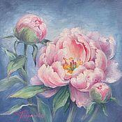 Картины и панно handmade. Livemaster - original item Oil painting Peony pink. Handmade.