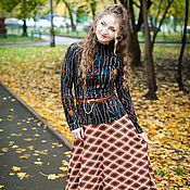 Одежда handmade. Livemaster - original item New autumn MIDI Skirt in warm knit. Handmade.