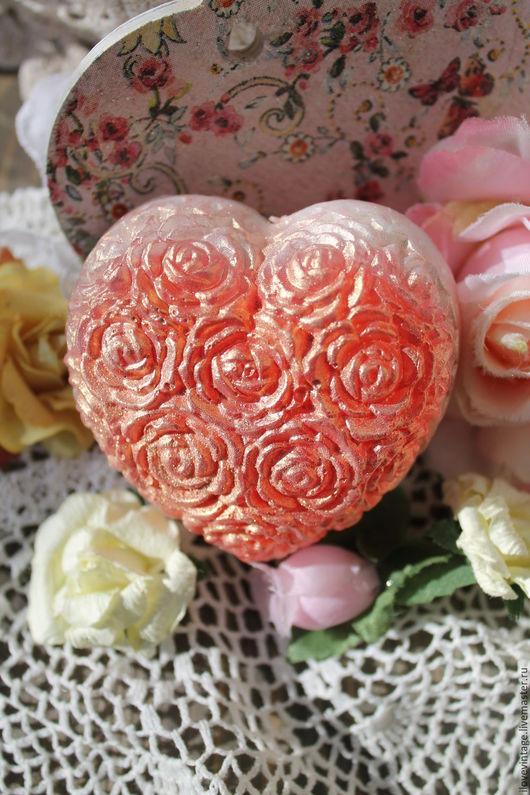 """Мыло ручной работы. Ярмарка Мастеров - ручная работа. Купить Мыло """"Сердце в розах"""" (2 варианта). Handmade. Комбинированный"""