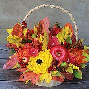 Цветы ручной работы. Ярмарка Мастеров - ручная работа Корзина с цветами из фоамирана. Handmade.