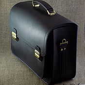 Сумки и аксессуары handmade. Livemaster - original item No. 2 men`s briefcase wide. Handmade.