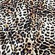 Бархат-стрейч с принтом Леопард, ширина 142 см, Ткани, Воронеж, Фото №1