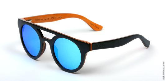 Очки ручной работы. Ярмарка Мастеров - ручная работа. Купить Деревянные многослойные очки S0316 из Эбена и клена. Handmade. Комбинированный