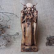 Для дома и интерьера handmade. Livemaster - original item Hecate, lady of the witches, Hecate wood statuette. Handmade.