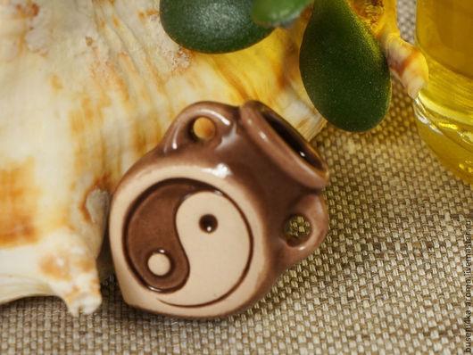Для украшений ручной работы. Ярмарка Мастеров - ручная работа. Купить Аромакулон керамический №2 (коричневый). Handmade. Аромакулон, ароматерапия